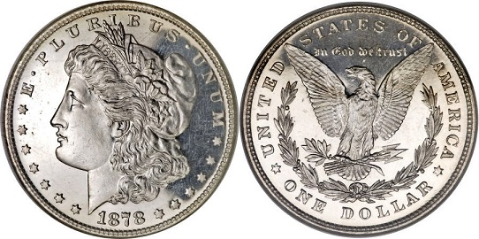 1878 8TF Morgan Dollar Value
