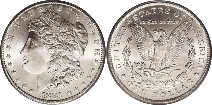 1881-CC Morgan Dollar Value