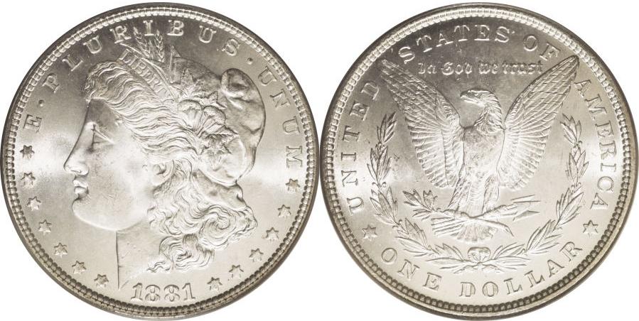 1881 Morgan Dollar Value