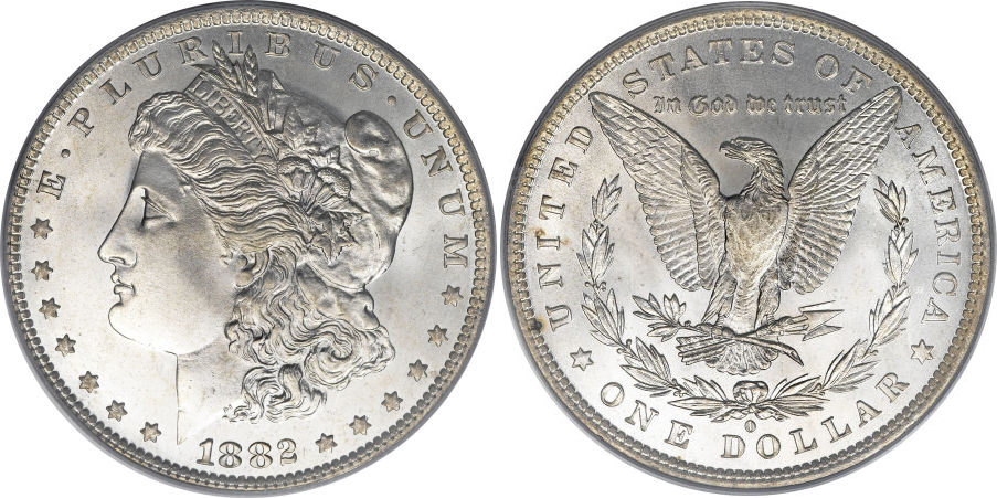 1882-O Morgan Dollar Value