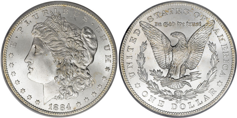 1884-CC Morgan Dollar Value