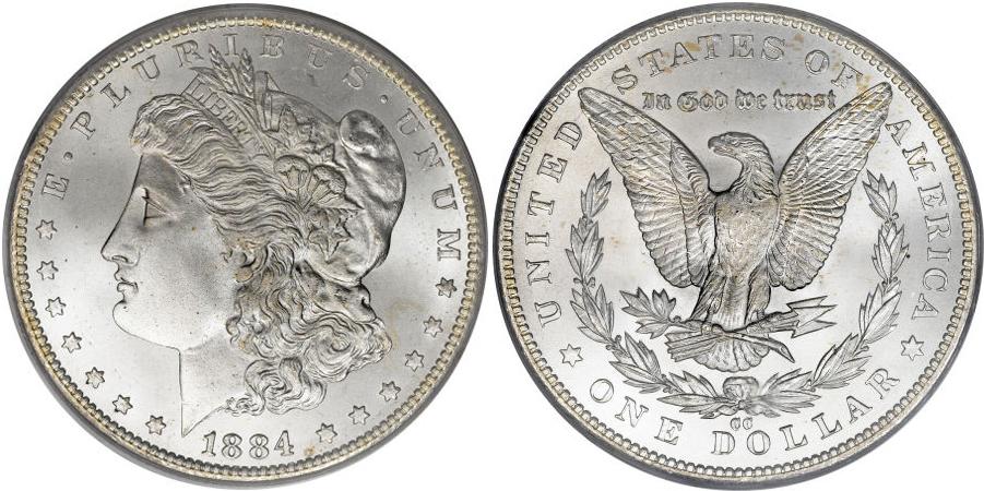 1884-CC Morgan Dollar Value