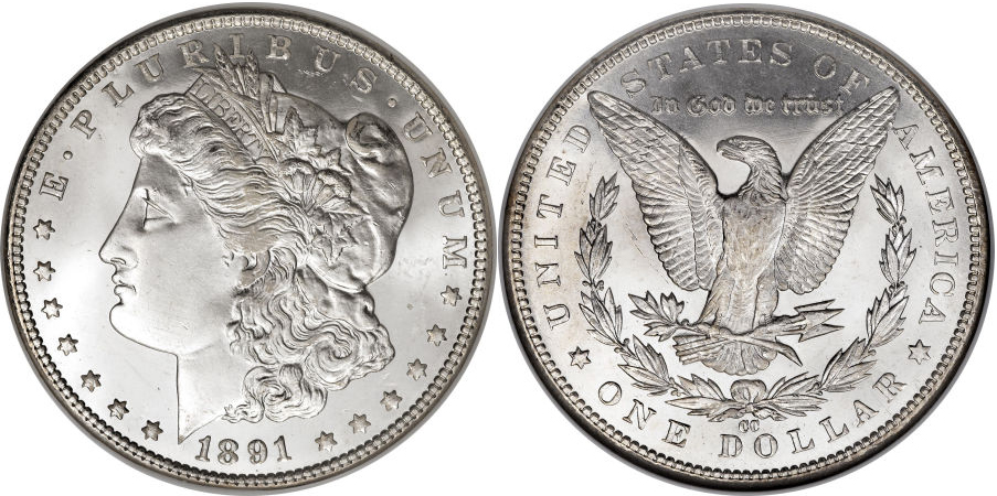 1891-CC Morgan Dollar Value