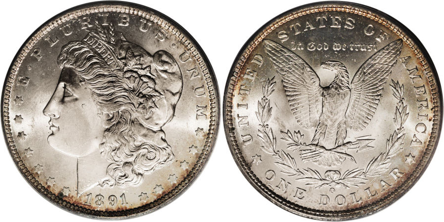 1891-O Morgan Dollar Value