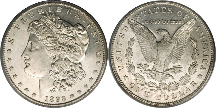 1893-CC Morgan Dollar Value