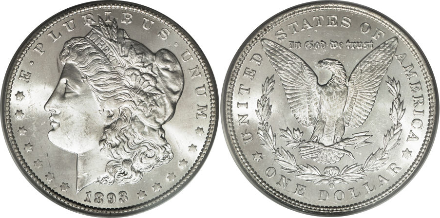 1893-O Morgan Dollar Value