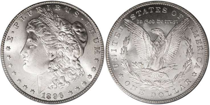 1896-O Morgan Dollar Value